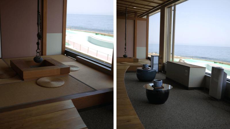 石花海の露天風呂とおいしい料理