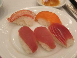 ナスパニューオータニの握り寿司