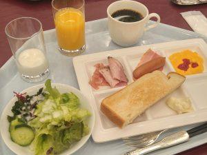 ナスパニューオータニの洋の朝食