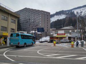ナスパニューオータニのシャトルバス越後湯沢駅