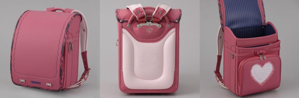 女の子のローズピンクのランドセル